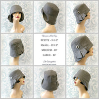 Women's 20's Style Rain Hat in Silver Gray | The Eleanor Cloche