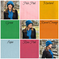 Color choices fleece hat Boston Millinery
