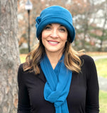 Flapper Style Fleece Hat Available in Many Colors | The Eleanor Cloche