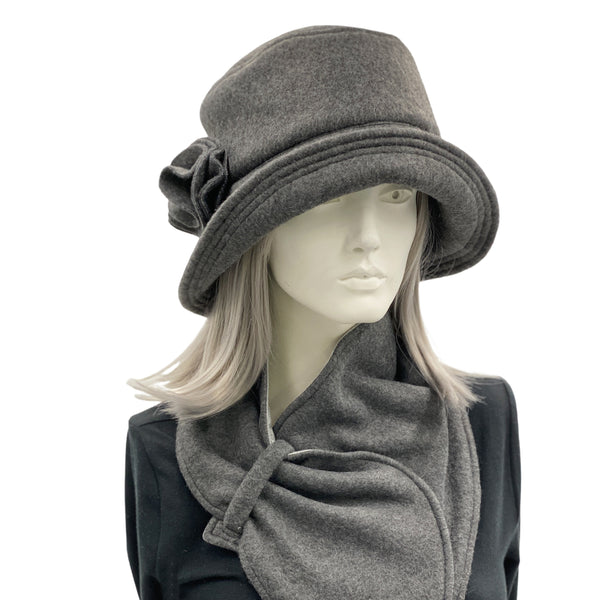 Ladies Winter Fleece Hat | The Eleanor Cloche