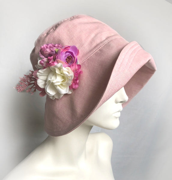 Wide Brim Pink Summer Cloche | The Eleanor