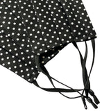 Face Mask black and white polka dot cotton adjustable