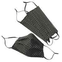 Face Mask black and white polka dot cotton
