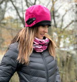 Flapper Style Hat in Hot Pink Wool | The Polly