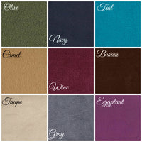 Ruffled Fleece Infinity Scarf  Color chart
