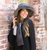 Big brim winter velvet hat for women