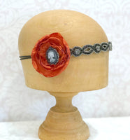 Burnt Orange Headband One of a Kind in Flapper Style | Boston Millinery