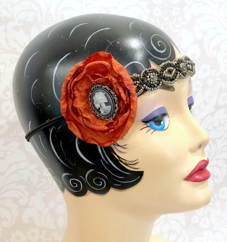 Halloween Headband One of a Kind in Flapper Style | Boston Millinery