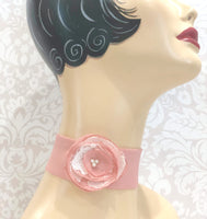 Handmade Chiffon Choker with Shabby Chic Rose | Accessories for the Neck