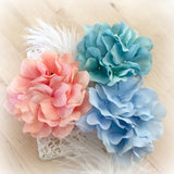 Handmade Hydrangea Fascinator | Corsage | Hairband | Brooch