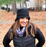Black rain hat women Boston Millinery