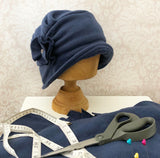 1920's Style Fleece Winter Hat with Narrow Brim | The Alice Cloche