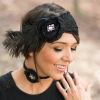 Great Gatsby Headband | Lace and Feather Fascinator