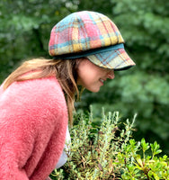 Womens Newsboy in Harris Tweed Plaid