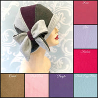 1920s Cloche hat color choices in pastels