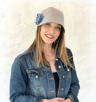 Linen Cloche Cap for Spring and Summer | The Polly