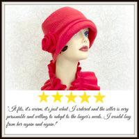 Boston Millinery 5 Star Review Fleece Eleanor Cloche Hat