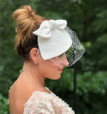 wedding fascinator linen
