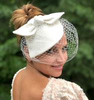 linen fascinator boston millinery