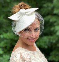 couture linen fascinator