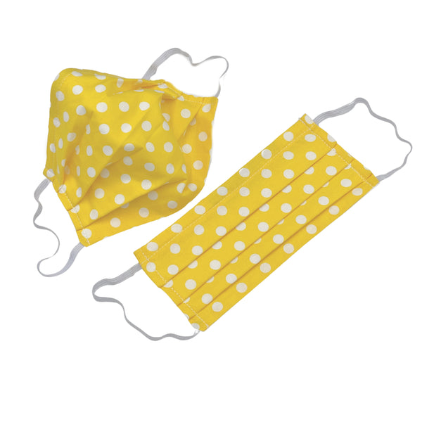 Polka Dot Spotty Cotton Face Mask with Adjustable Ear Elastics