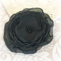 Handmade Shabby Chic Chiffon Rose Brooch , Fascinator, Hair Comb or Headband