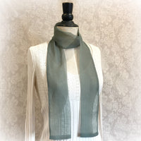Green chiffon scarf for Women