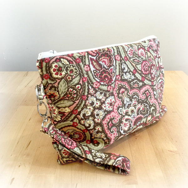 Paisley Print Zippered Purse | Wristlets and Purses