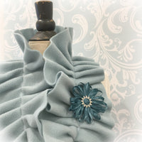 Ruffled Fleece Infinity Scarf Choose your Color Aqua