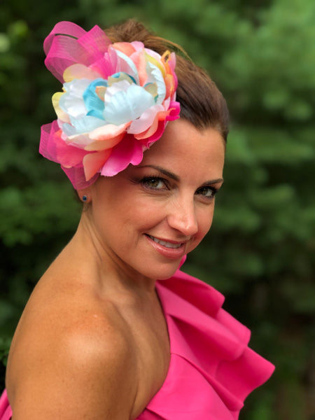 Multi Color Flower Fascinator | Weddings and Race Day