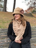 Downton Abbey Style Women's Winter Hat in Soft Fleece,The Alice Cloche, Boston Millinery