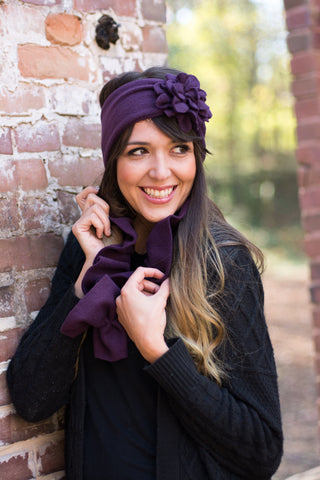 Flapper Headband - Winter Fleece Fascinator