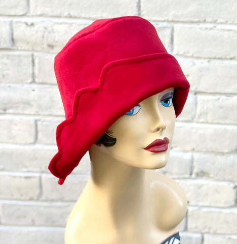 The Dorothy a Petal Cut Brim Hat in Luxurious Velour Velvet | Downton Abbey Style | Boston Millinery