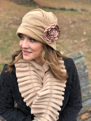 de462afabdcbd Downton Abbey Style Women s Winter Hat in Soft Fleece