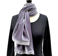 Long Lush Velvet Fashion Scarf in Jewel Colors | Boston Millinery