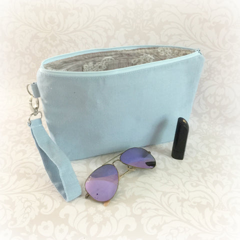 Linen Wristlet Clutch - Choose Your Colour
