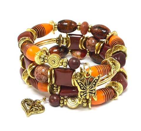 Autumn Bracelet, Butterfly Bracelet, Presents for Mom, Fall Jewelry