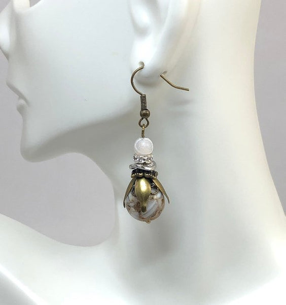 Sea Shell Earrings, Gifts for Wife, Hippie Dangle Earrings, Stocking Stuffers