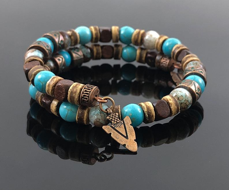 Men's Turquoise Bracelet, Christmas Gift Ideas for Him