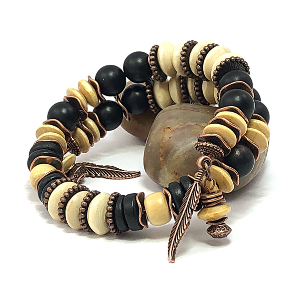 Men's Beaded Bracelet, Jewelry for Him, Men's Bangle, Gift for Him, Rustic Men's Bracelet