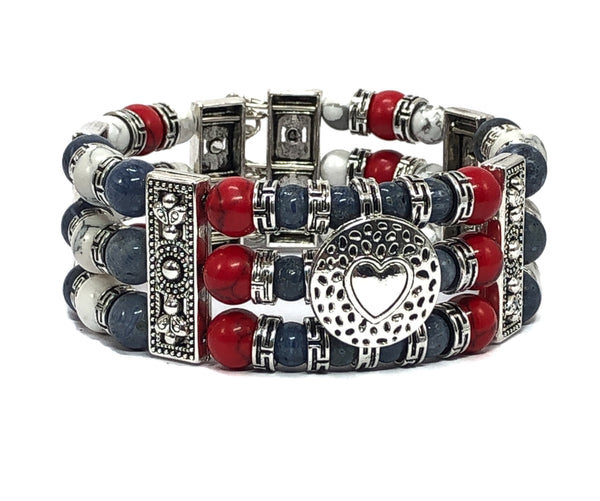 Patriotic Bracelet Cuff Bracelets for Women Men