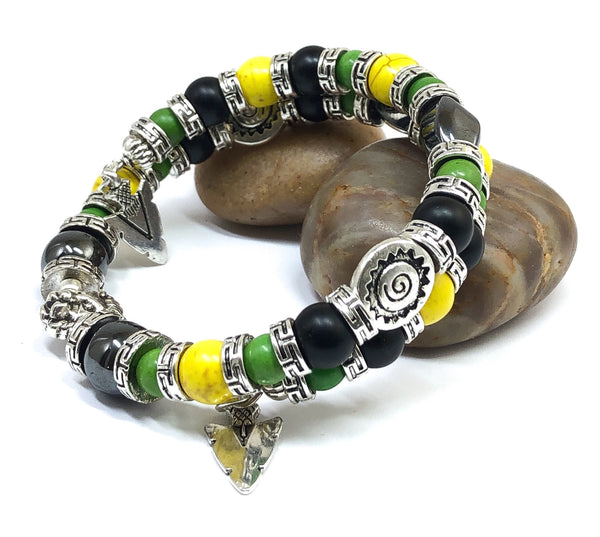 Men's Bracelet, Jamaican Bracelet, Gift Ideas for Him