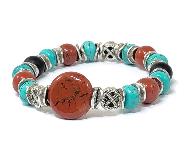 Southwestern Bracelet, Beaded Stretch Bracelet, Gift Ideas for Women