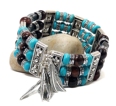 Turquoise Cuff Bracelets for Men Women