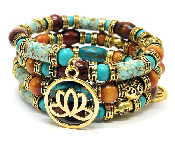 Multilayered Lotus Flower Bracelet