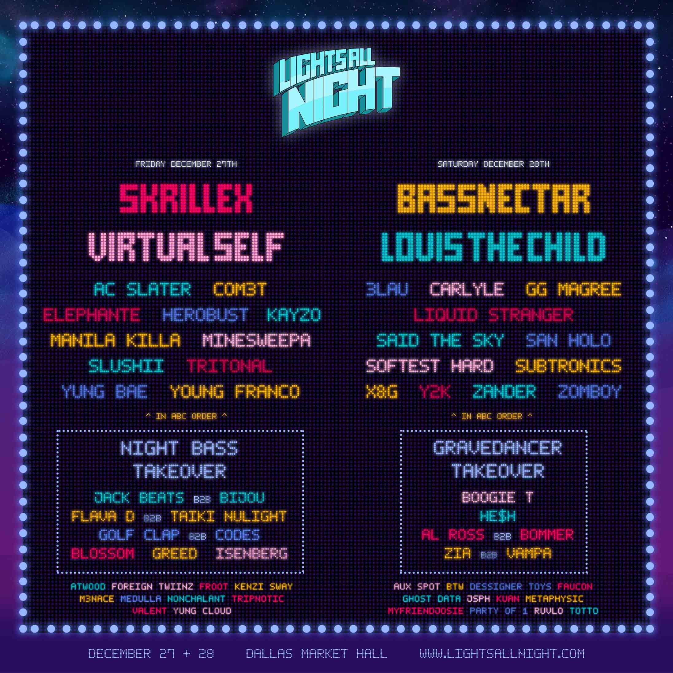 Lights All Night Lineup 2019