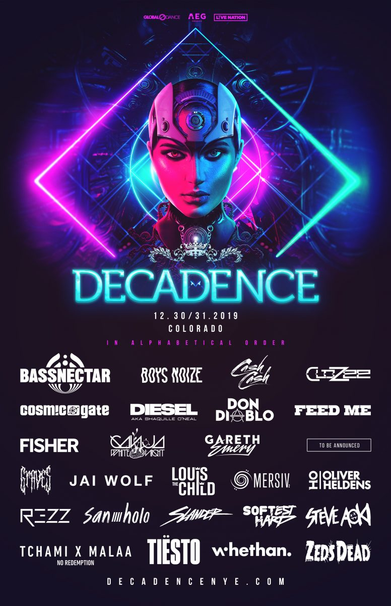 Decadence Colorado Lineup 2019