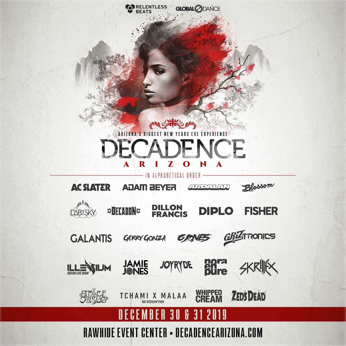 Decadence Arizona Lineup 2019