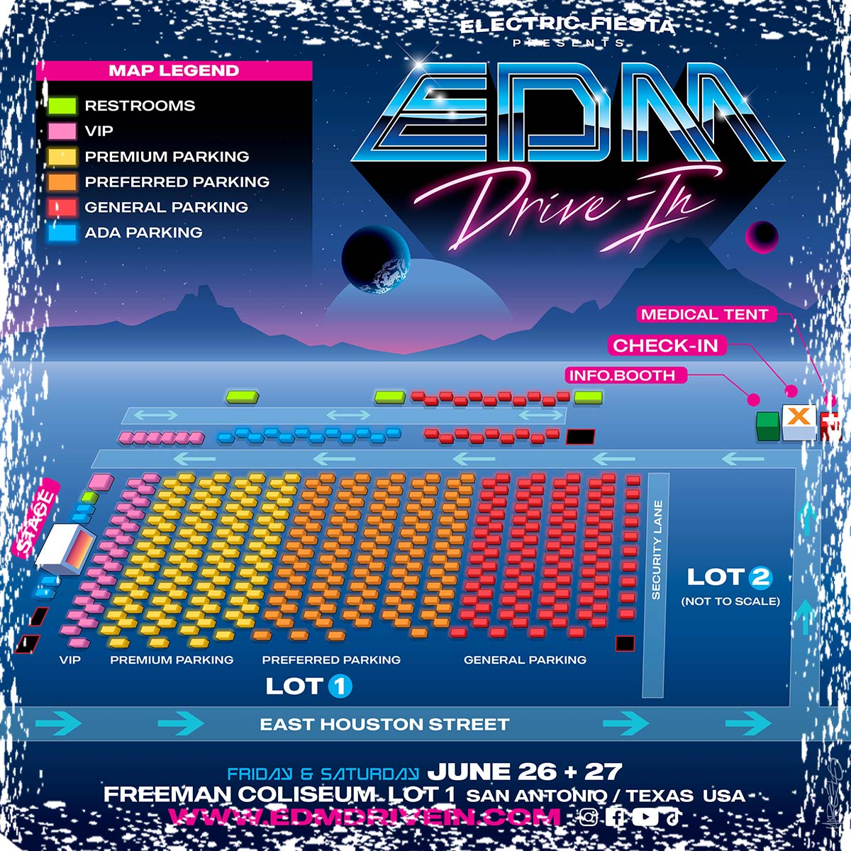 EDM Drive-In Parking Map