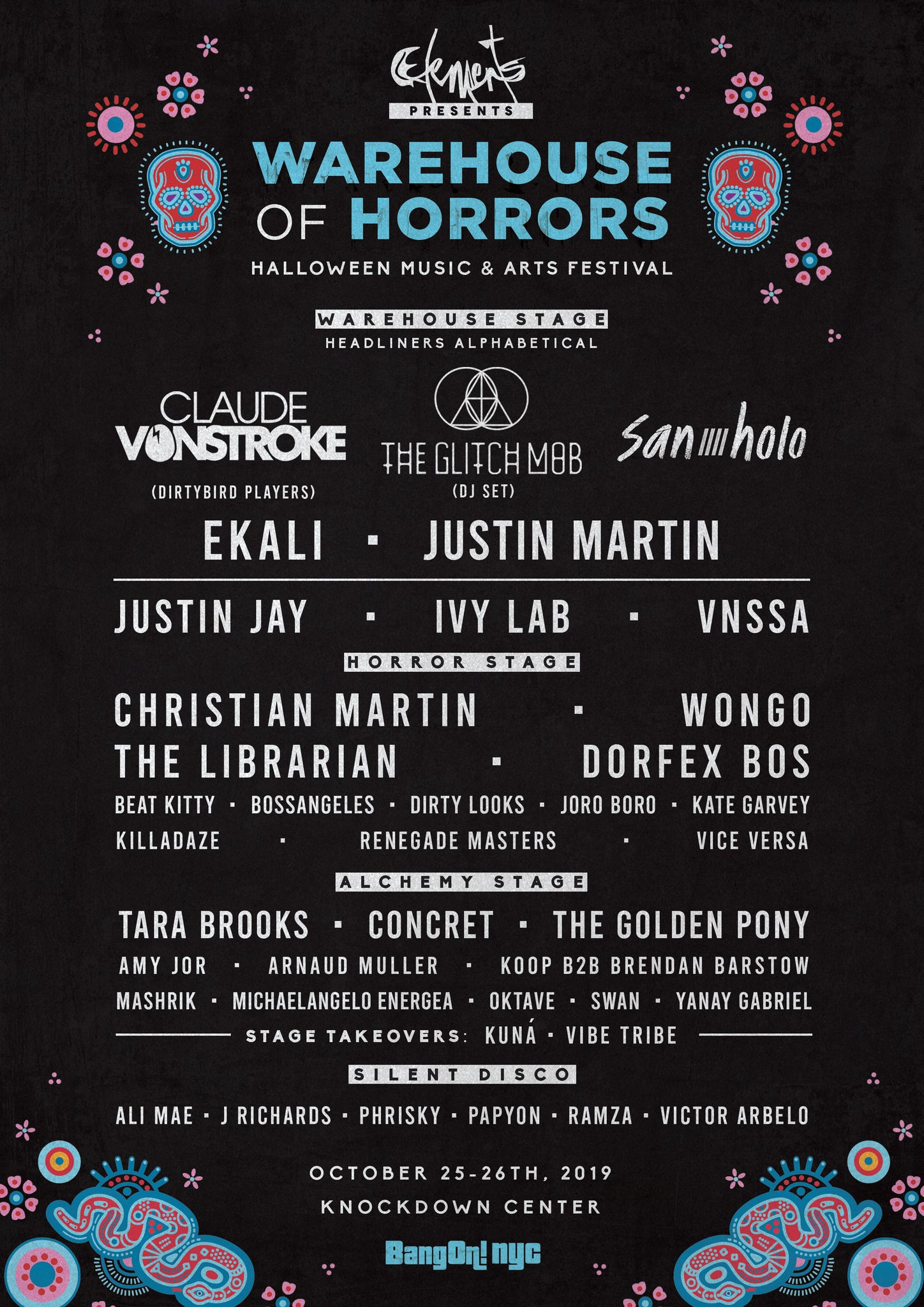 Elements Warehouse of Horrors Halloween Rave 2019